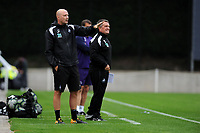 Monday 20th August 2018<br /> Pictured: Swansea City\'92s u23's Coaches Cameron Toshack<br /> Re: Swansea City U23 v Derby County U23 Premier League 2 match at the Landore Training facility, Swansea, Wales, UK