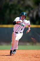 Dartmouth Big Green second baseman Sean Sullivan (4) running the bases during a game against the Villanova Wildcats on March 3, 2018 at North Charlotte Regional Park in Port Charlotte, Florida.  Dartmouth defeated Villanova 12-7.  (Mike Janes/Four Seam Images)
