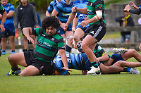 Action from the Wellington premier club preseason rugby match between Johnsonville and Wainuiomata at Lyndhurst Park in Wellington, New Zealand on Saturday, 20 March 2020. Photo: Dave Lintott / lintottphoto.co.nz