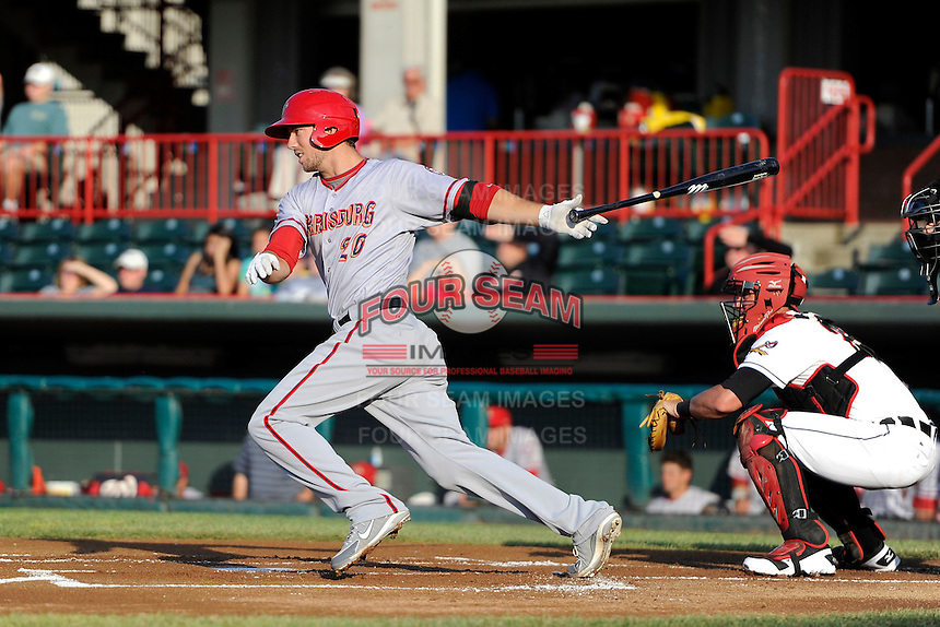 Harrisburg Senators outfielder Steven Souza Jr #20 during a game against the Erie Seawolves on July 2, 2013 at Jerry Uht Park in Erie, Pennsylvania.  Erie defeated Harrisburg 2-1.  (Mike Janes/Four Seam Images)