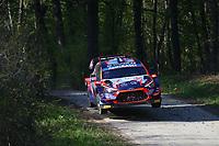 23rd April 2021; Zagreb, Croatia; WRC Rally of Croatia, stages 1-8;  Pierre Louis Loubet - Hyundai I20 WRC WRC