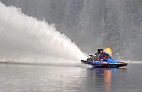 Jul. 19, 2009; Augusta, GA, USA; IHBA top fuel hydro driver Scotty Lumbert races during the Augusta Southern Nationals on the Savannah River. Mandatory Credit: Mark J. Rebilas-