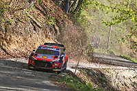 24th April 2021; Zagreb, Croatia; WRC Rally of Croatia, stages 9-16; Ott Tanak - Hyundai I20 WRC