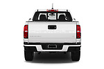 Straight rear view of 2021 Chevrolet Colorado LT 4 Door Pick-up Rear View  stock images