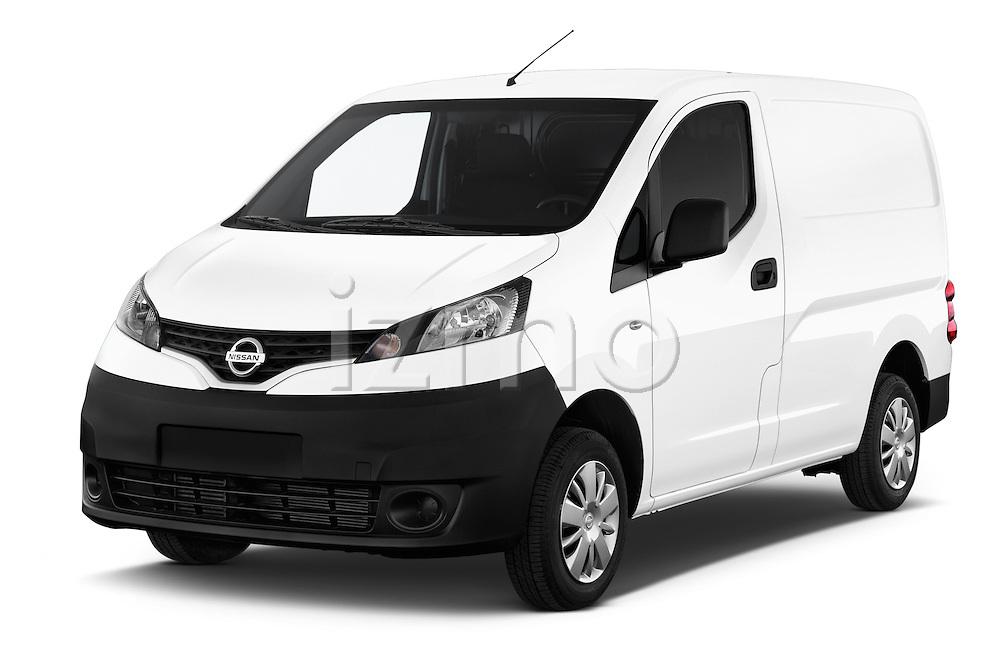 2015 Nissan NV200 Visia 5 Door Cargo Van angular front stock photos of front three quarter view