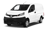 2015 Nissan NV200 Visia 5 Door Cargo Van angular front stock photos of front three quarter view