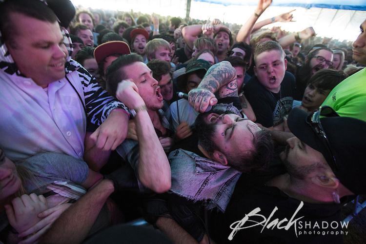 Gallows performing at Soundwave Festival 2013, Flemington Racecouse, Melbourne, 1 March 2013
