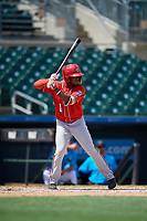 Washington Nationals Wilfrido Matos (1) at bat during an Instructional League game against the Miami Marlins on September 25, 2019 at Roger Dean Chevrolet Stadium in Jupiter, Florida.  (Mike Janes/Four Seam Images)
