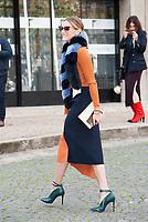 October 3 2017, PARIS FRANCE the Miu Miu<br /> Show at the Paris Fashion Week Spring Summer 2017/2018. Olivia Palermo arrives at the show.