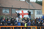 Barnet 1 Rochdale 0, 08/05/2010. Underhill Stadium, League 2. The final game of the season at Underhill. The Bees must beat Rochdale to guarantee their survival. Rochdale are celebrating promotion to League one. Rochdale support put up a flag. Photo by Simon Gill.