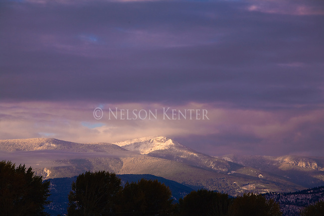 Lolo Peak on the southern edge of  Missoula sits at over 9000 feet above sea level