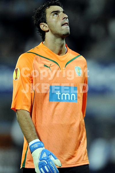 voetbal sc heerenveen - sporting portugal europa leaque seizoen 2009-2010 17-09-2009 rui patricio