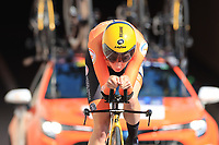 9th September 2021; Trento, Trentino–Alto Adige, Italy: 2021 UEC Road European Cycling Championships, Womens Individual time trials:  Riejanne MARKUS (NED)