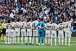 Real Madrid's players during La Liga match between Real Madrid and Athletic Club de Bilbao at Santiago Bernabeu Stadium in Madrid, Spain. April 21, 2019. (ALTERPHOTOS/A. Perez Meca)