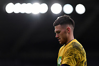 Freddie Woodman of Swansea City during the pre-match warm-up for the Sky Bet Championship match between Swansea City and Cardiff City at the Liberty Stadium in Swansea, Wales, UK. Saturday 20 March 2021