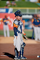 Beau Taylor (6) of the Las Vegas Aviators before the game against the Salt Lake Bees at Smith's Ballpark on July 20, 2019 in Salt Lake City, Utah. The Aviators defeated the Bees 8-5. (Stephen Smith/Four Seam Images)
