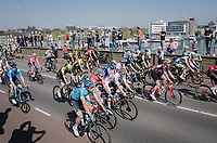 riding out of Maatsricht accross the Maas river<br /> <br /> 54th Amstel Gold Race 2019 (1.UWT)<br /> One day race from Maastricht to Berg en Terblijt (NED/266km)<br /> <br /> ©kramon