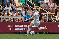 NEWTON, MA - AUGUST 29: Sam Smith #9 of Boston College dribbles down the wing during a game between University of Connecticut and Boston College at Newton Campus Soccer Field on August 29, 2021 in Newton, Massachusetts.