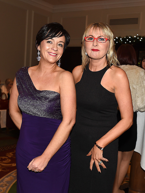Organisers Karen and Alison Duffy pictured at the Ardee Traders Awards night in the Nuremore hotel Carrickmacross. Photo:Colin Bell/pressphotos.ie