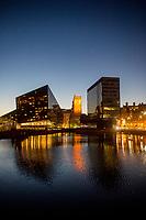 View of Liverpool Docks, Liverpool, England, UK