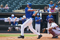Zack Kone (2) of the Duke Blue Devils follows through on his swing against the Florida State Seminoles in the first semifinal of the 2017 ACC Baseball Championship at Louisville Slugger Field on May 27, 2017 in Louisville, Kentucky. The Seminoles defeated the Blue Devils 5-1. (Brian Westerholt/Four Seam Images)