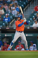 Syracuse Mets Gregor Blanco (7) bats during an International League game against the Buffalo Bisons on June 29, 2019 at Sahlen Field in Buffalo, New York.  Buffalo defeated Syracuse 9-3.  (Mike Janes/Four Seam Images)