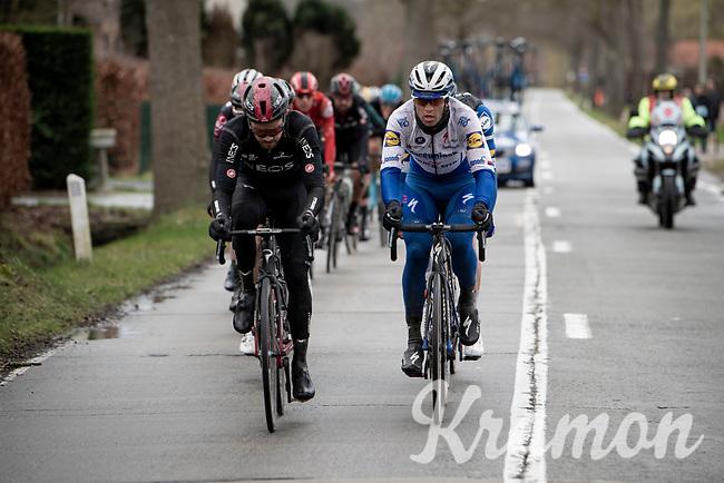Last years winner Zdenek Stybar (CZE/Deceuninck-Quick Step) is also in the front group<br /> <br /> 75th Omloop Het Nieuwsblad 2020 (1.UWT)<br /> Gent to Ninove (BEL): 200km<br /> <br /> ©kramon