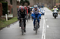 Last years winner Zdenek Stybar (CZE/Deceuninck-Quick Step) is also in the front group<br /> <br /> 75th Omloop Het Nieuwsblad 2020 (1.UWT)<br /> Gent to Ninove (BEL): 200km<br /> <br /> ©kramon