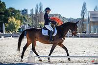 NZL-Jess Allsop rides Regal Salvation. 2021 NZL-Oro Dressage by the Lake - at Takapoto Estate. Lake Karapiro. Waikato. Sunday 2 May. Copyright Photo: Libby Law Photography
