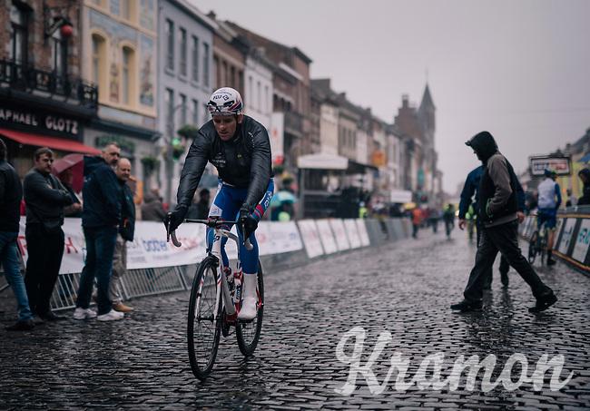 Arnaud Démare (FRA/Groupama-FDJ) to the start<br /> <br /> 2018 Binche - Chimay - Binche / Memorial Frank Vandenbroucke (1.1 Europe Tour)<br /> 1 Day Race: Binche to Binche (197km)