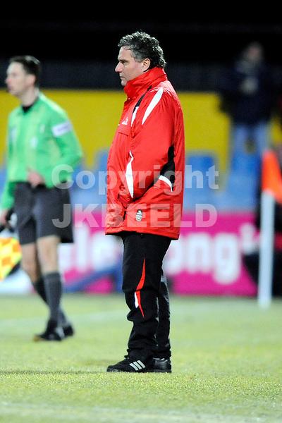 voetbal bv veendam -omniworld jupiler leaque seizoen 2008-2009  24-02-2009 trainer henk wisman.fotograaf jan kanning
