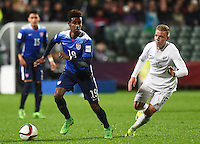 Auckland, New Zealand - Tuesday, June 2, 2015: The USMNT U-20 defeated New Zealand 4-0 in first round Group A play during the FIFA U-20 World Cup at QBE Stadium.