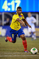 Ecuador midfielder Jorge Guagua (2). Argentina and Ecuador played to a 0-0 tie during an international friendly at MetLife Stadium in East Rutherford, NJ, on November 15, 2013.