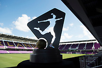 Orlando, FL - Saturday October 14, 2017: NWSL Trophy during the NWSL Championship match between the North Carolina Courage and the Portland Thorns FC at Orlando City Stadium.   The Portland Thorns won the championship, 1-0.