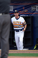 Canisius College Golden Griffins head coach Mike McRae (21) argues a call during the second game of a doubleheader against the Michigan Wolverines on February 20, 2016 at Tradition Field in St. Lucie, Florida.  Michigan defeated Canisius 3-0.  (Mike Janes/Four Seam Images)