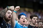 © Joel Goodman - 07973 332324 . 19/09/2015 . Manchester , UK . Fans at the Etihad Stadium watching Manchester City vs West Ham in the Premiere League . Photo credit : Joel Goodman