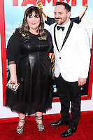 """HOLLYWOOD, LOS ANGELES, CA, USA - JUNE 30: Actress Melissa McCarthy husband/actor Ben Falcone arrive at the Los Angeles Premiere Of Warner Bros. Pictures' """"Tammy"""" held at the TCL Chinese Theatre on June 30, 2014 in Hollywood, Los Angeles, California, United States. (Photo by Xavier Collin/Celebrity Monitor)"""