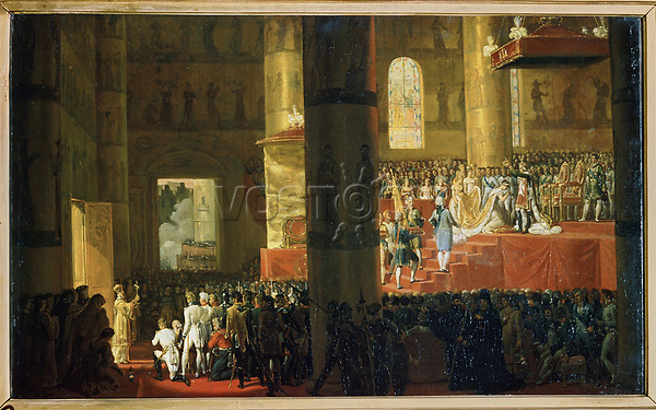 The Coronation of the Empress Maria Feodorovna on 5th April 1797<br /> Artist:Vernet, Horace(1789-1863)<br /> Museum:State Russian Museum, St. Petersburg<br /> Method:Oil on canvas<br /> Created:<br /> School:France<br /> Tsar's Family. House of Romanov<br /> Trend in art:French Painting of 19th cen.