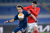 18th February 2021, Rome, Italy;  David Luiz of Arsenal FC competes for the ball with Darwin Nunez during the UEFA Europa League round of 32 Leg 1 match between SL Benfica and Arsenal at Stadio Olimpico, Rome, Italy on 18 February 2021.