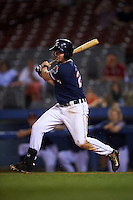 Connecticut Tigers outfielder Tanner Donnels (22) at bat during the second game of a doubleheader against the Brooklyn Cyclones on September 2, 2015 at Senator Thomas J. Dodd Memorial Stadium in Norwich, Connecticut.  Connecticut defeated Brooklyn 2-1.  (Mike Janes/Four Seam Images)