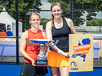 Rosmalen, Netherlands, 15 June, 2019, Tennis, Libema Open, NK Padel, Final Padel womans double: Milou Ettekoven (NED) and Marcella Koek (NED) (R)<br /> Photo: Henk Koster/tennisimages.com