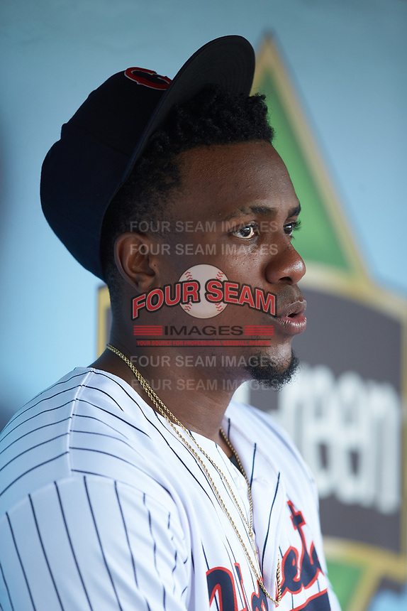 Charlotte Hornets relief pitcher Thyago Vieira (10) during the game against the Louisville Bats at BB&T BallPark on June 22, 2019 in Charlotte, North Carolina. The Hornets defeated the Bats 7-6. (Brian Westerholt/Four Seam Images)