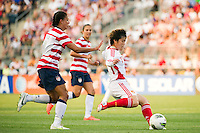 Liu Shukun (14) of China PR (CHN). The United States (USA) women defeated China PR (CHN) 4-1 during an international friendly at PPL Park in Chester, PA, on May 27, 2012.
