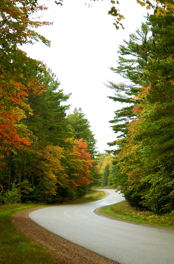 The start of the fall season on H-13 near Munising, MI.