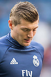 Toni Kroos of Real Madrid in training prior to the La Liga 2016-17 match between Real Madrid and Malaga CF at the Estadio Santiago Bernabéu on 21 January 2017 in Madrid, Spain. Photo by Diego Gonzalez Souto / Power Sport Images