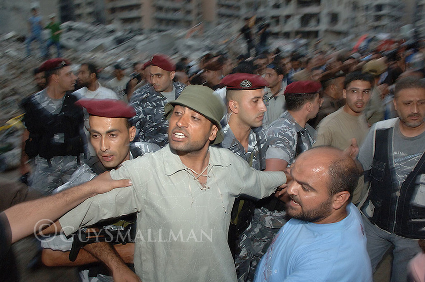 Kofi Annan gets a hostile reception from the residents of Dahieh, South Beirut.