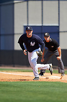 New York Yankees Tim Lynch (30) during a minor league Spring Training game against the Detroit Tigers on March 22, 2017 at the Yankees Complex in Tampa, Florida.  (Mike Janes/Four Seam Images)