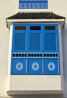 Tunisia, Sidi Bou Said.  Enclosed Window, Harem Window.