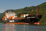 Cargo Ship on the Columbia River