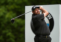 24.05.2015. Wentworth, England. BMW PGA Golf Championship. Final Round.  Shane Lowry [IRE] Tee shot 3rd hole during the final round of the 2015 BMW PGA Championship from The West Course Wentworth Golf Club